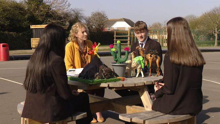 St Catherine's College in Eastbourne has been one of the main schools backing the climate crisis movement