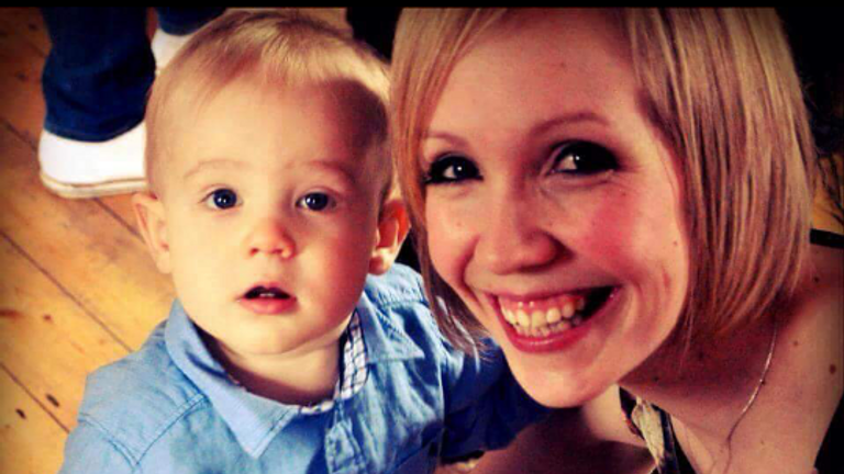 Freddie is pictured with his mother Charlotte