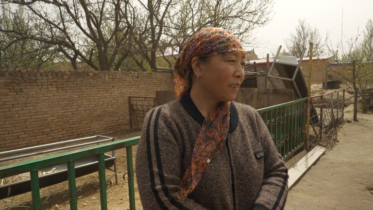 Mrs Ma (pictured) had to leave her home 20 years ago, to the north the near the basin of the Yellow River