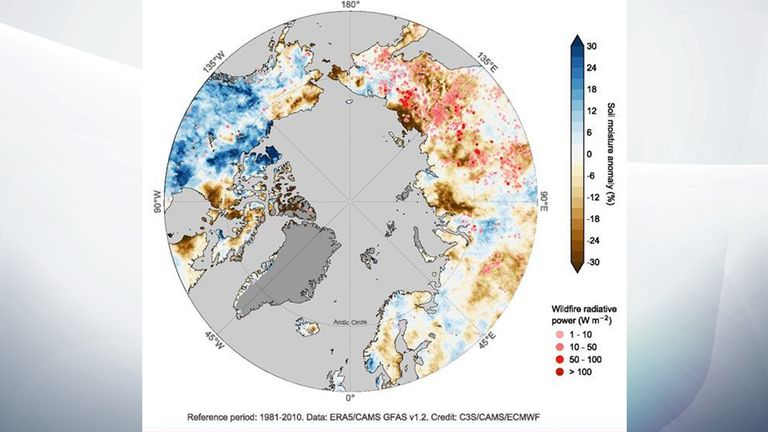 Globally, 2020 was one of three warmest years on record, with the last six years being the warmest six on record. Pic: Copernicus Climate Change Service