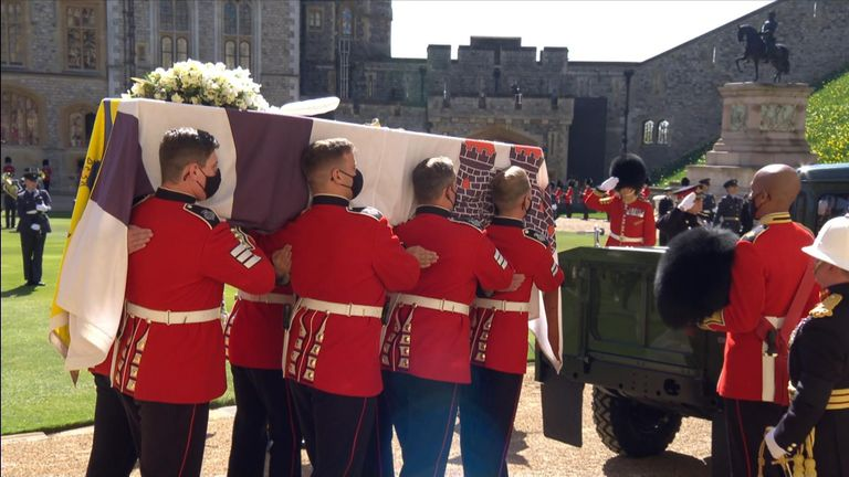 The Duke of Edinburgh is being laid to rest at St George's Chapel, Windsor Castle