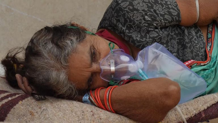 Sky News' Alex Crawford reports from Delhi, where there is not enough oxygen to cope with the huge numbers of COVID-19 patients.