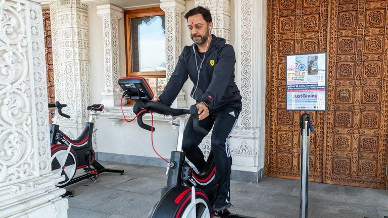 Sanjiv Patel on bike