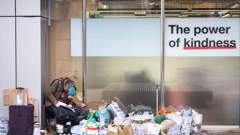 Over 3,000 rough sleepers were seen in London between January and March