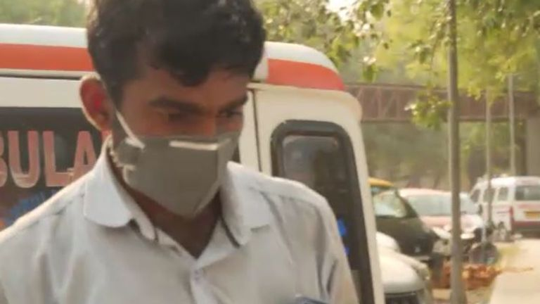 This ambulance driver says he is transporting '10 to 12'bodies daily from just one hospital