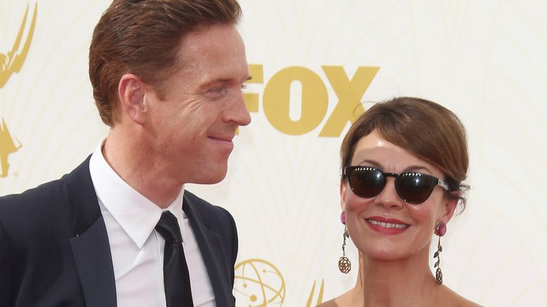 LOS ANGELES, CA - SEPTEMBER 20: Damian Lewis, Helen McCrory at the 67th Annual Primetime Emmy Awards at Microsoft Theater on September 20, 2015 in Los Angeles, California. Credit: mpi27/MediaPunch