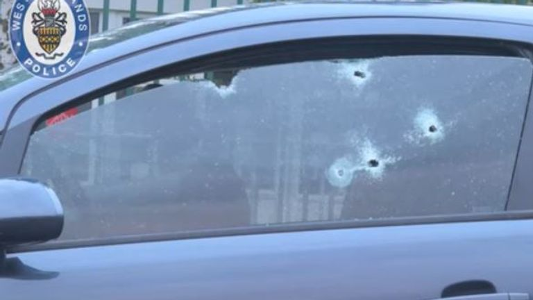 Bullets passed through the window of the car Mullings was sitting in