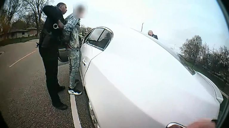 Daunte Wright was stopped by police over an invalid registration plate on his car