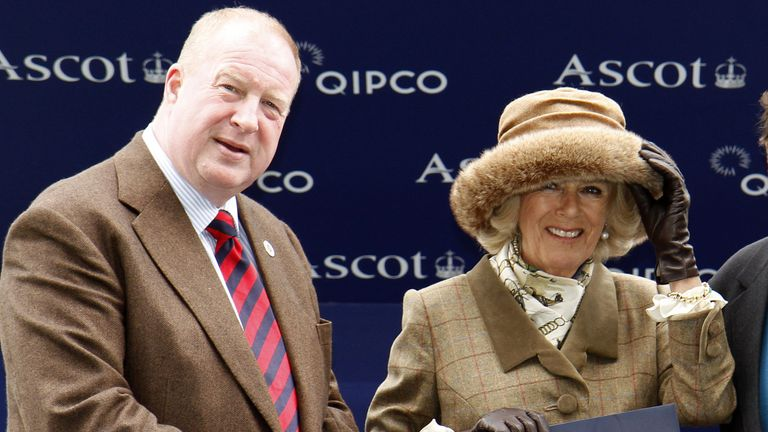 David Brownlow (left) with the Duchess of Cornwall in 2015 Pic: Steven Cargill/Racing Fotos/Shutterstock