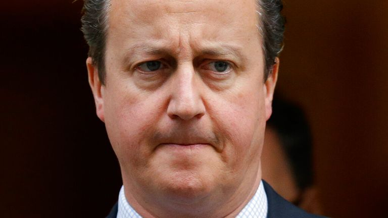 Former prime minister David Cameron. Pic: AP