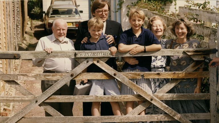 David Mellor and his family during the scandal of his affair
