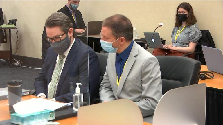 Derek Chauvin and his lawyer