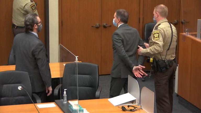 Derek Chauvin is remanded into custody