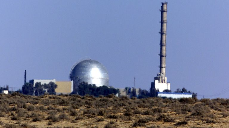 View of the Israeli nuclear facility in the Negev Dest outside Dimona August 6, 2000.