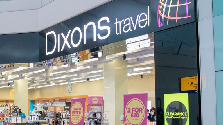 Dixons Travel store, Heathrow, T2, Fly Safe retail, 9th July 2020.
