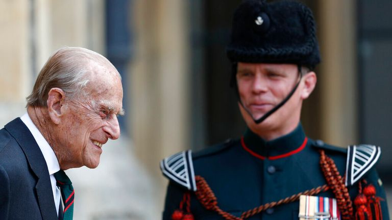 The Duke maintained close links with the military all his life. Pic: AP