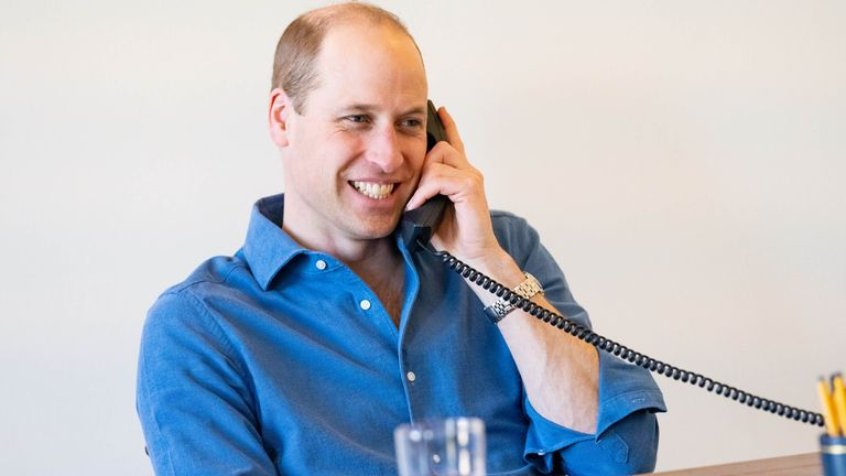 Undated handout photo issued by Kensington Palace of the Duke of Cambridge making a series of telephone calls to personally thank NHS staff and volunteers for their work through the pandemic. Issue date: Tuesday April 6, 2021.