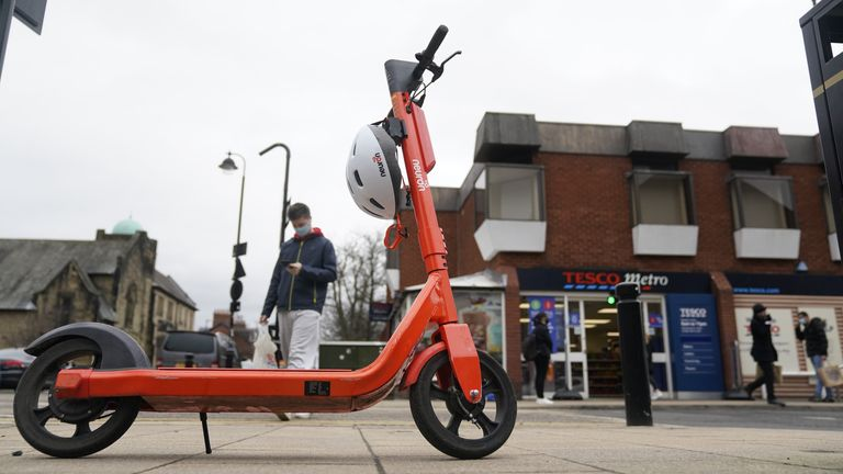 An e-scooter trial is running in Newcastle