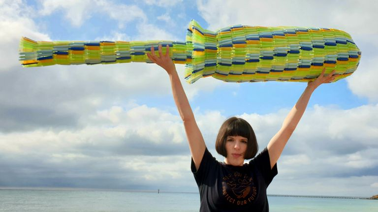 Ella Daish leads an award-winning campaign to remove unneccesary plastic from period products. Pic: Ella Daish