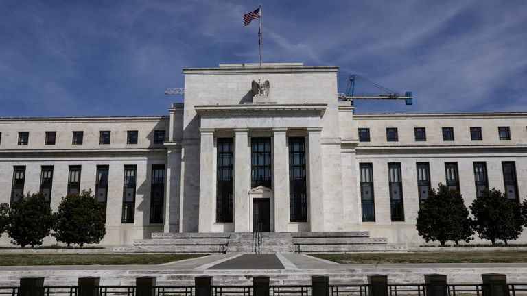 The Federal Reserve Board building on Constitution Avenue is pictured in Washington, U.S., March 27, 2019
