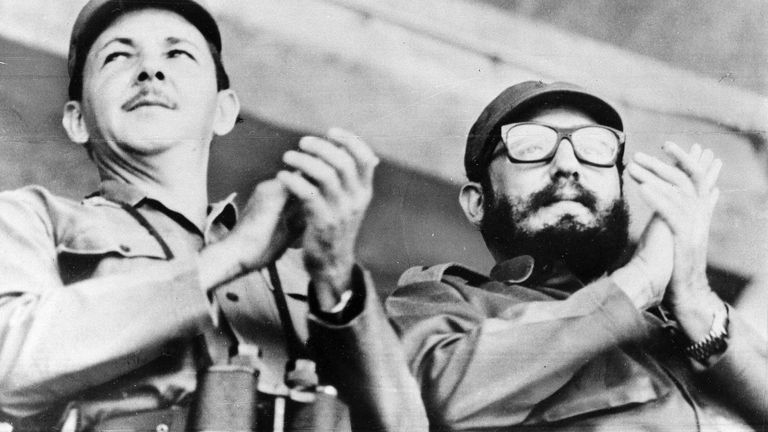 Raul Castro, left, with Fidel in 1964. Pic: AP