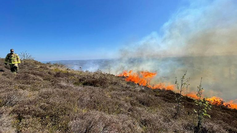 South Wales Fire and Rescue Service of firefighters attending suspected deliberate fires across South Wales