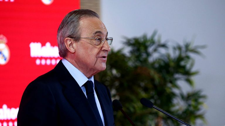 Florentino Pérez president of Real Madrid Pic: AP