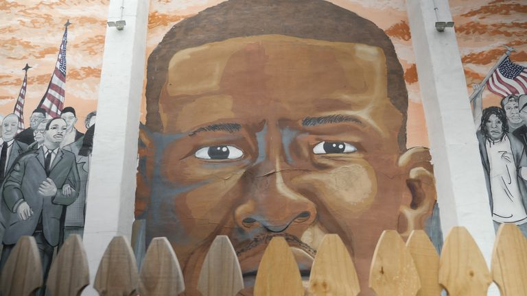 A Freddie Gray mural in the city