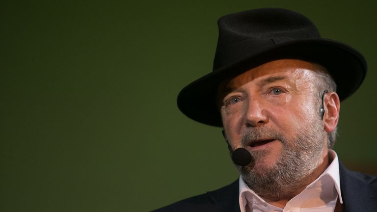 George Galloway is also running in the election