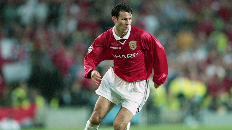 Ryan Giggs in action during the 1999 Champions League: Final. Pic: AP