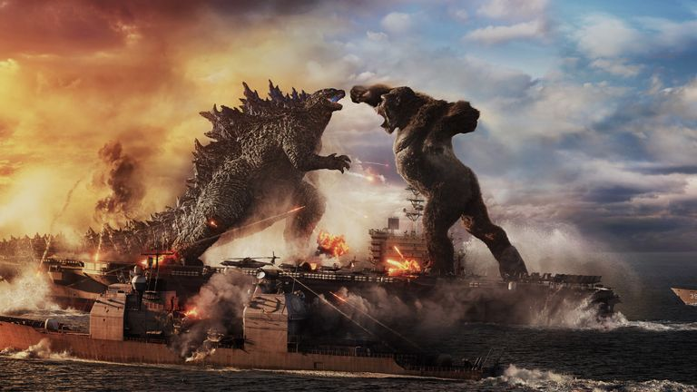 Godzilla vs Kong has hit cinemas in the US. Pic: Warner Bros. Pictures and Legendary Pictures