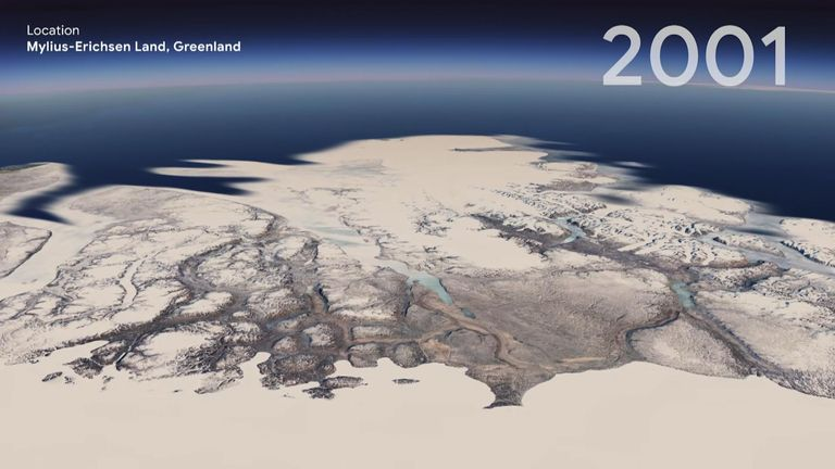 Google Earth shows humanity's impact on the Earth through a global timelapse video of the planet since 1984.