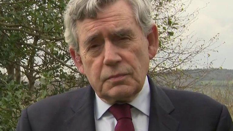 Former Prime Minister Gordon Brown speaks to Sky News.