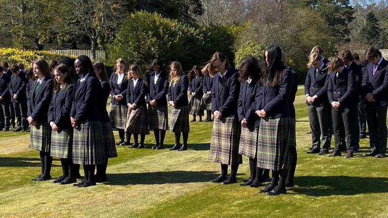 مراسم تشییع جنازه Gordonstoun Prince Prince Philip