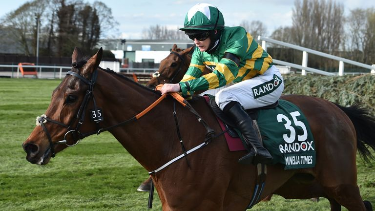 Rachael Blackmore rides Minella Times to victory in the Grand National at Aintree