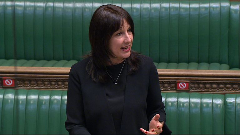 Rachel Reeves, Shadow chancellor of the Duchy of Lancaster questions the government over the David Cameron Greensill controversy