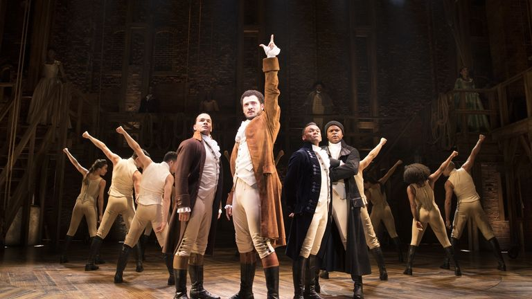 Hamilton, the story of the birth of American democracy, will reopen in August. Pic: Matthew Murphy/Cameron Mackintosh