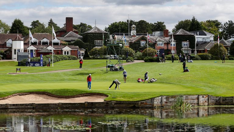 England's Laurie Canter putting on the ninth green during day four of the ISPS HANDA UK Championship at The Belfry, Sutton Coldfield