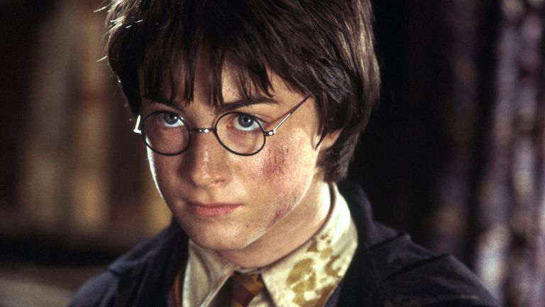 Daniel Radcliffe in a scene from the film Harry Potter and the Chamber of secrets.