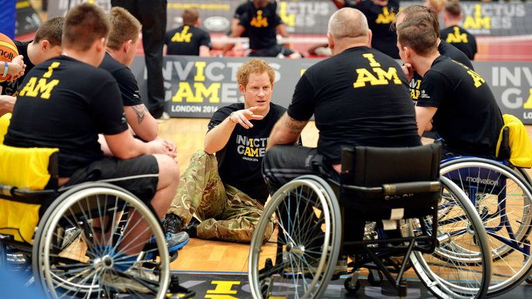 The games see servicemen and women and veterans compete
