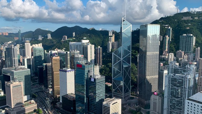 A general view of the financial Central district in Hong Kong, China July 25, 2019. REUTERS/Tyrone Siu