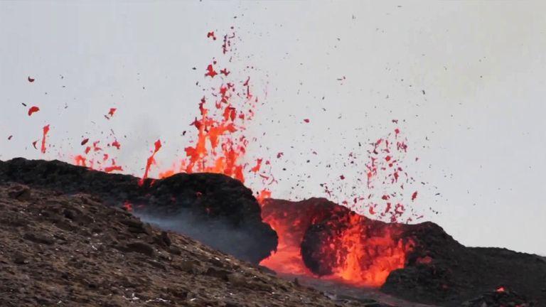 The eruption began near Fagradalsfjall, a mountain on the Reykjanes Peninsula