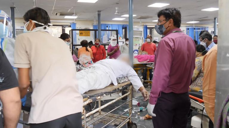 Inside a Delhi hospital during the COVID crisis