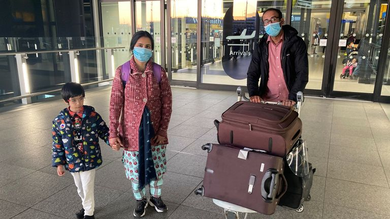 This family arrived in time to quarantine at home instead of paying thousands for a hotel