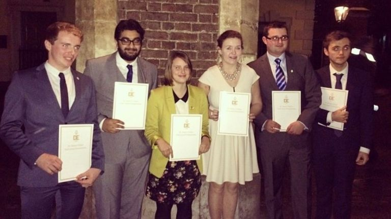 Inzy and his team achieved their Gold DofE awards