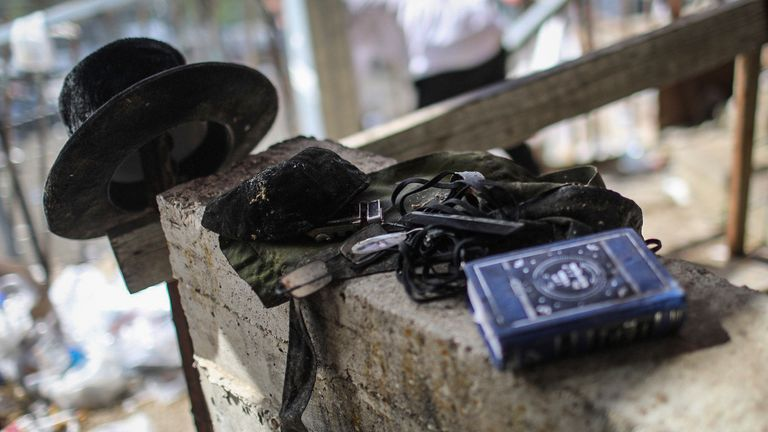 Personal items left at the site of the tragedy. Pic: AP
