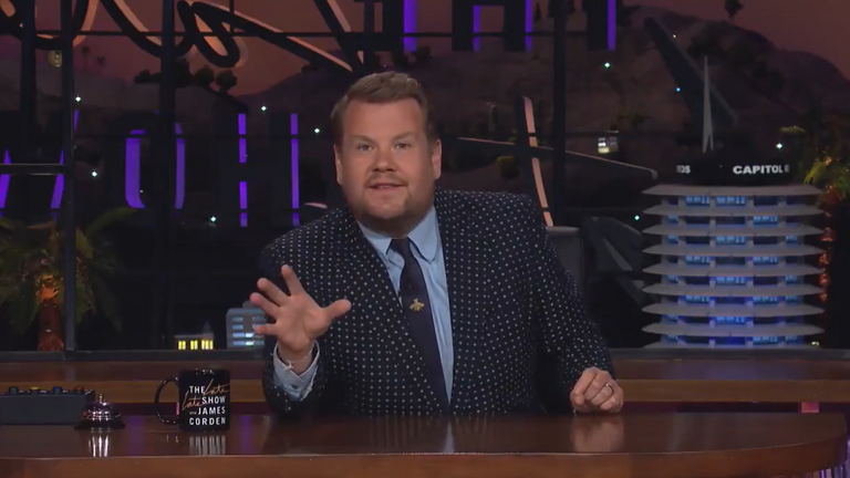 "James Corden described the plans as ""disgusting"" and said its the ""end of the game we love"". Pic Twitter/James Corden"