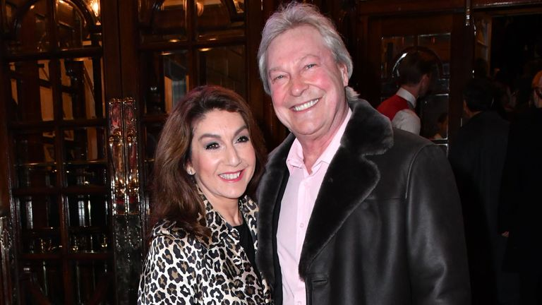 Jane McDonald and Eddie Rothe at the Cinderella musical press night in 2016. Pic: Nils Jorgensen/Shutterstock