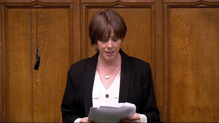 Jess Phillips read out the names of all women murdered by men in the UK last year