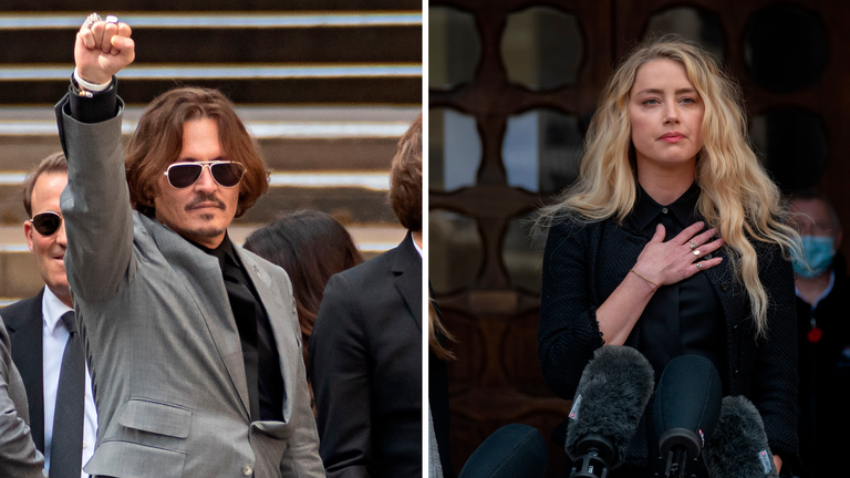 Johnny Depp and Amber Heard. Pics: AP